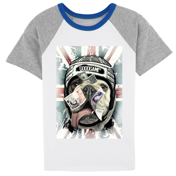T-shirt rugby contraste