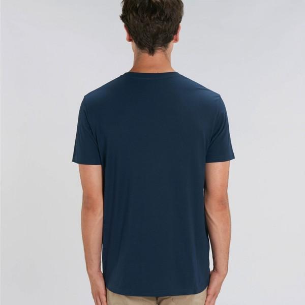 T-shirt coq Col V marine