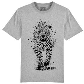 T-shirt léopard gris