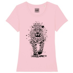 T-shirt leopard rose
