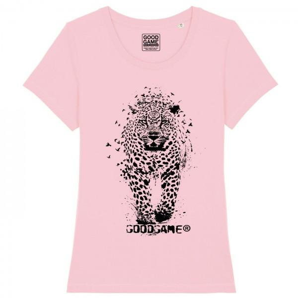 T-shirt leopard rose