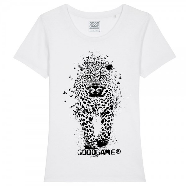 T-shirt femme leopard blanc