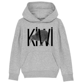 Sweat rugby Kiwi gris enfant