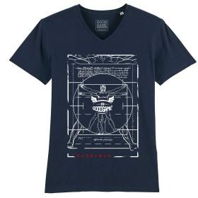 T-shirt  Col V marine Vitruve