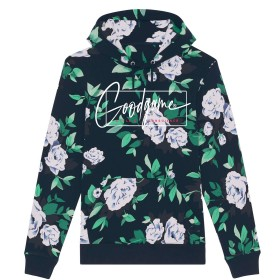 Sweat capuche fleurs french