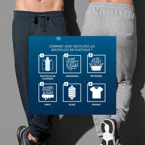 Bas de jogging recyclé Gris