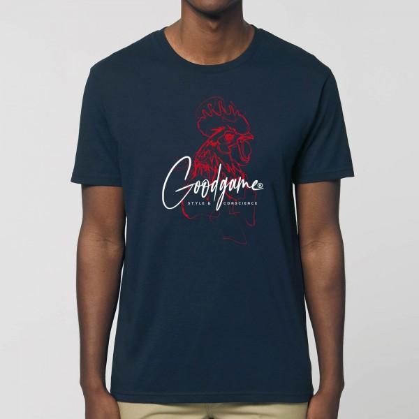 T-shirt unisexe coq portrait
