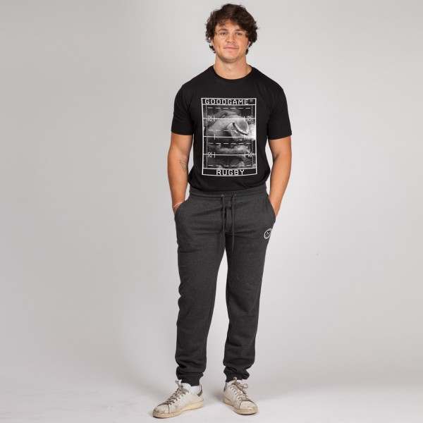 T-shirt rugby rectangle black