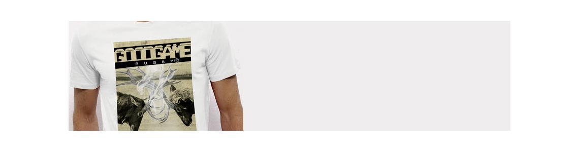 T-shirt rugby MC col V