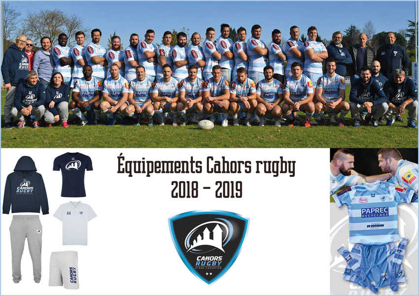equipement club de rugby cahors rugby